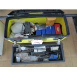 LOT - TOOL BOX, W/ MISC TOOLS