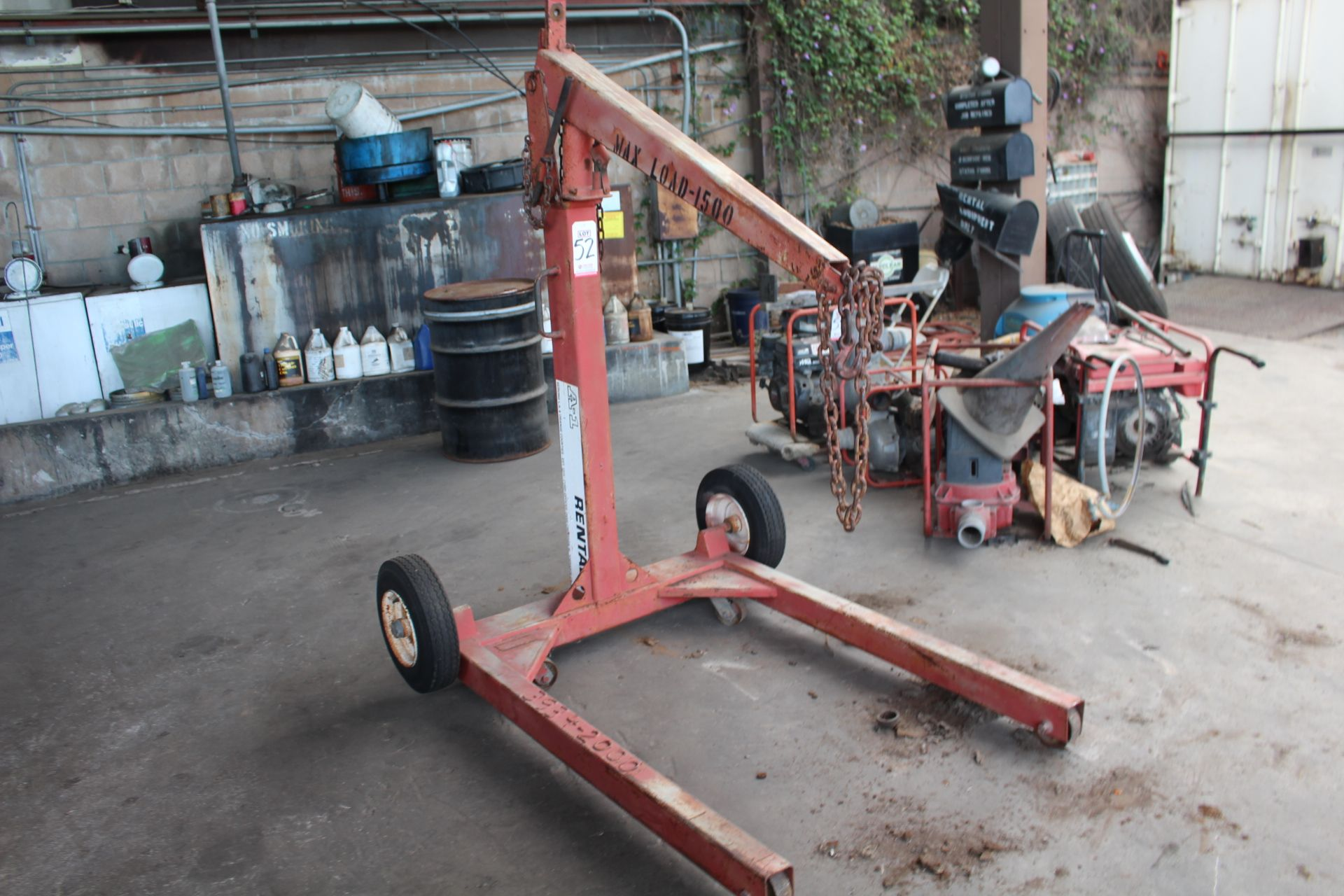 Lot 52 - CHERRY PICKER, 1500 LB CAPACITY