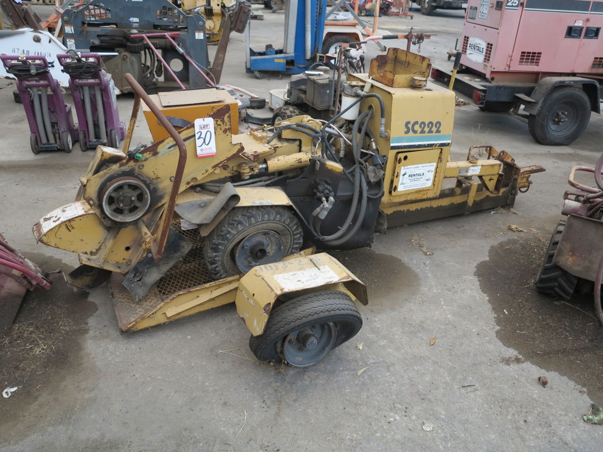 Lot 30 - SC222 STUMP GRINDER, W/ TRAILER (OUT OF SERVICE)