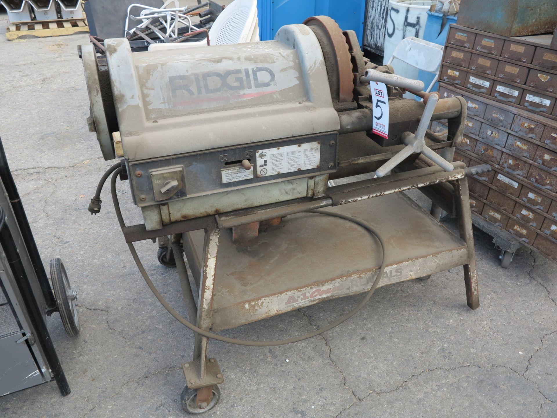 Lot 5 - RIDGID 1224 ELECTRIC PIPE THREADER