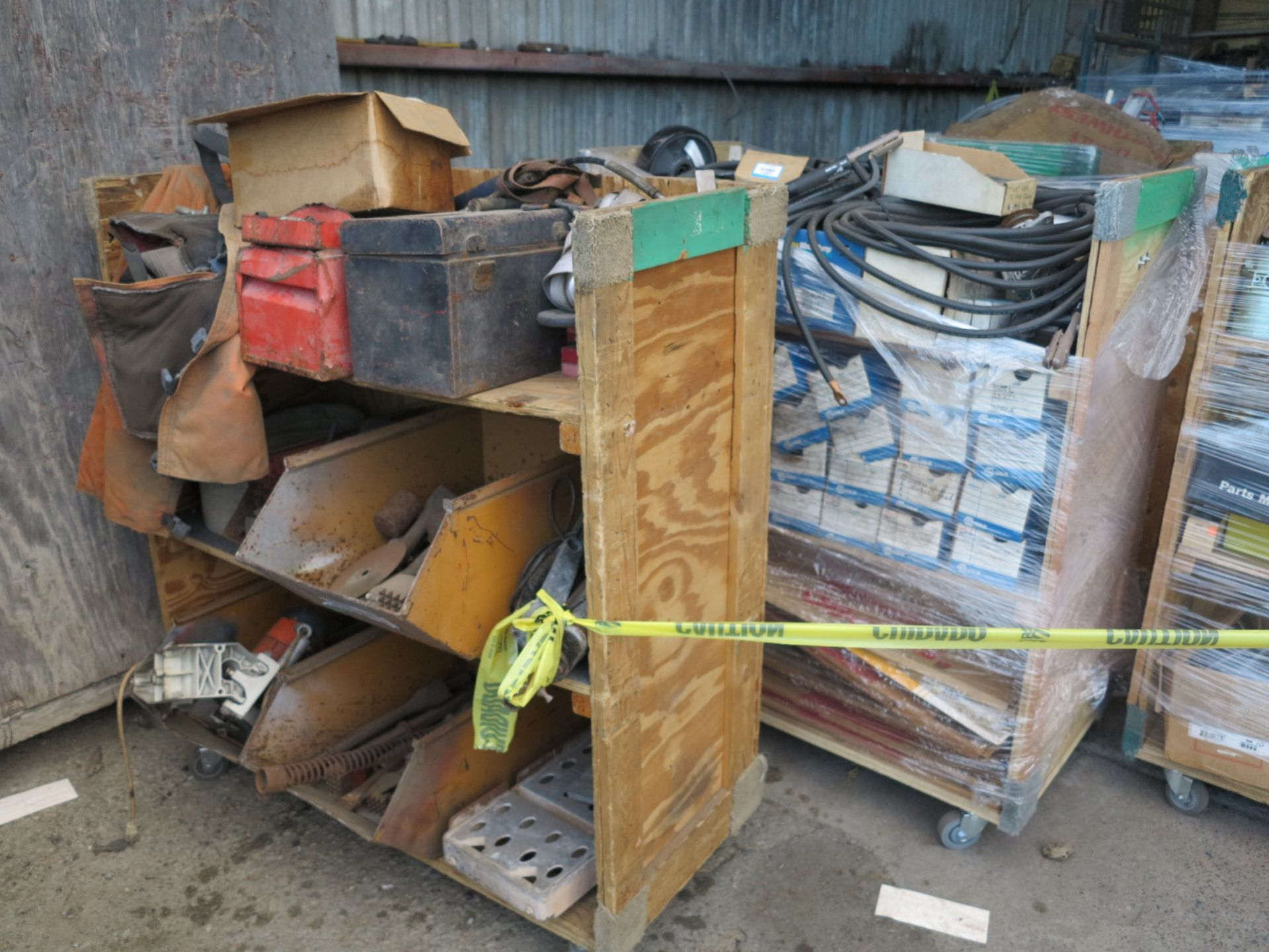 Lot 7 - LOT - (6) CARTS TO CONTAIN: JACKHAMMER BITS, AUTOMOTIVE AND RELATED ITEMS
