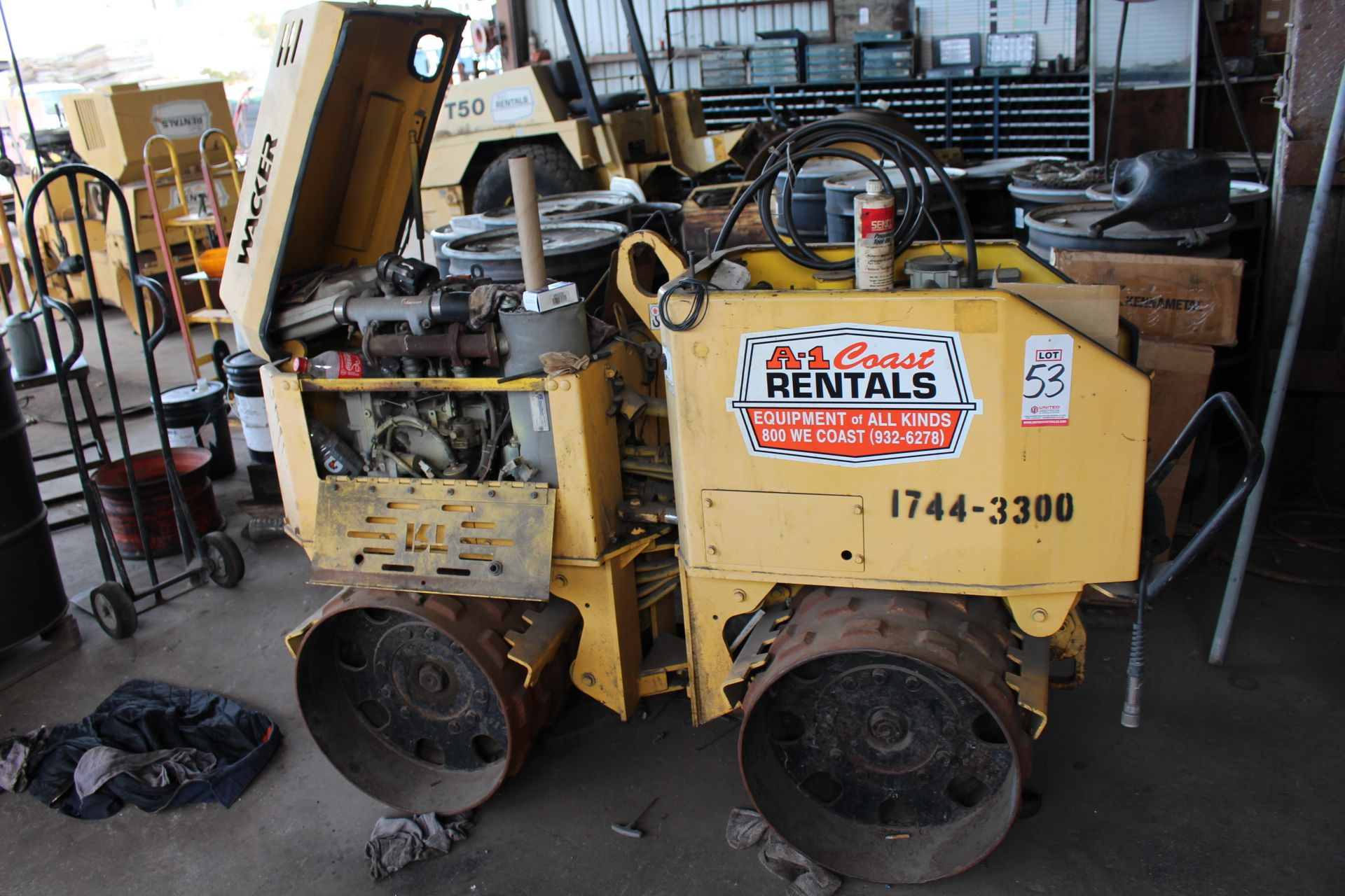 Lot 53 - WACKER TRENCH COMPACTOR (OUT OF SERVICE)