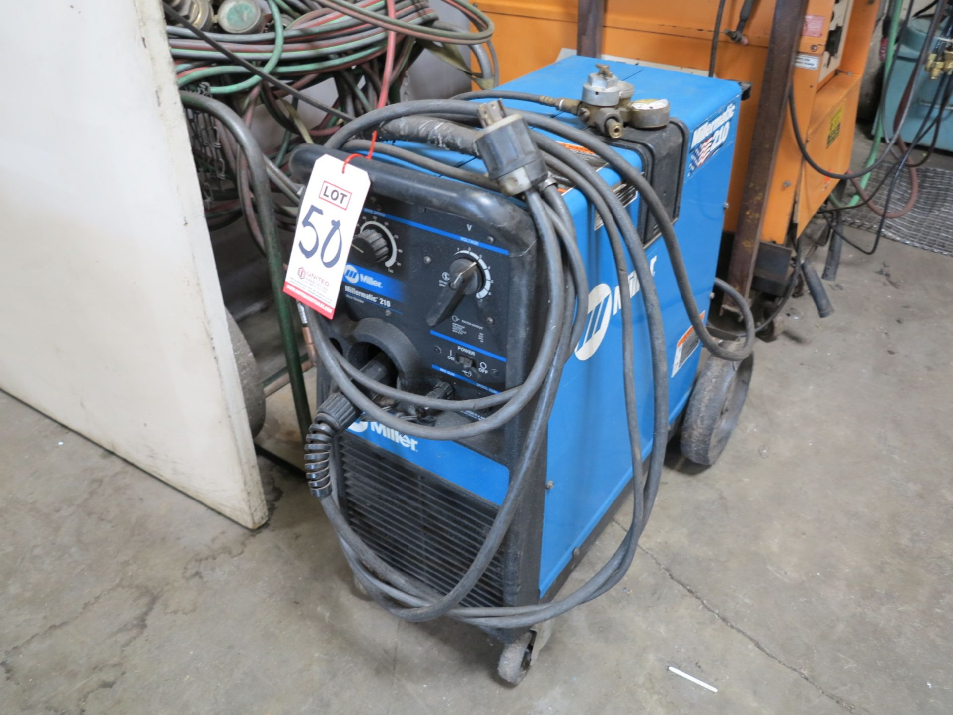 Lot 50 - MILLERMATIC 210 WIRE WELDER, STOCK NO. 907046, S/N LG341038B