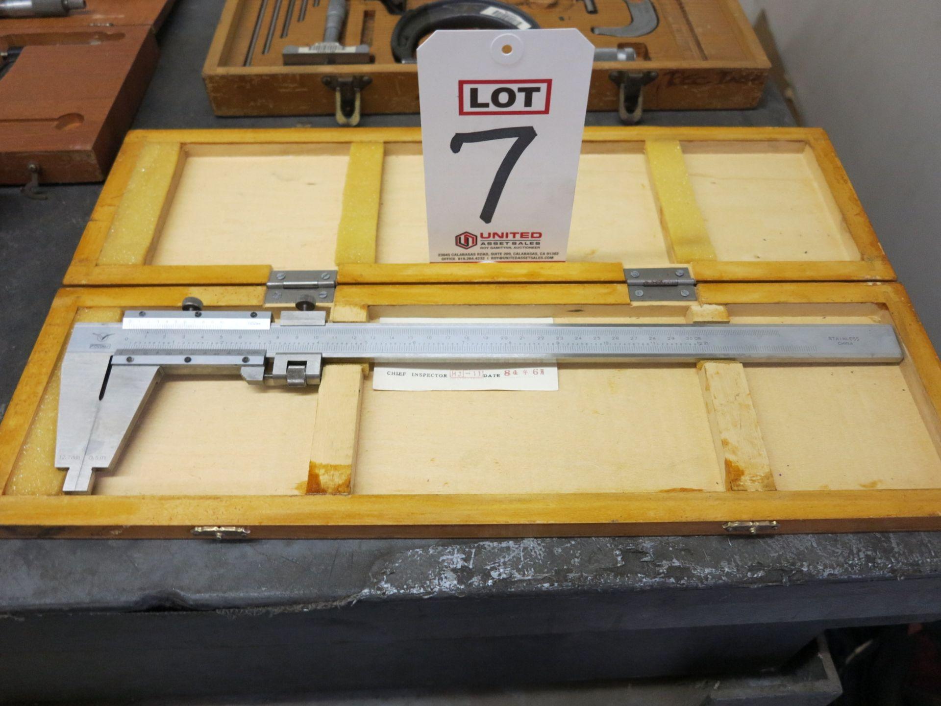 """Lot 7 - LOT - FOWLER 12"""" PRECISION VERNIER CALIPER & SCHERR TUMICO 12"""" VERNIER CALIPER"""