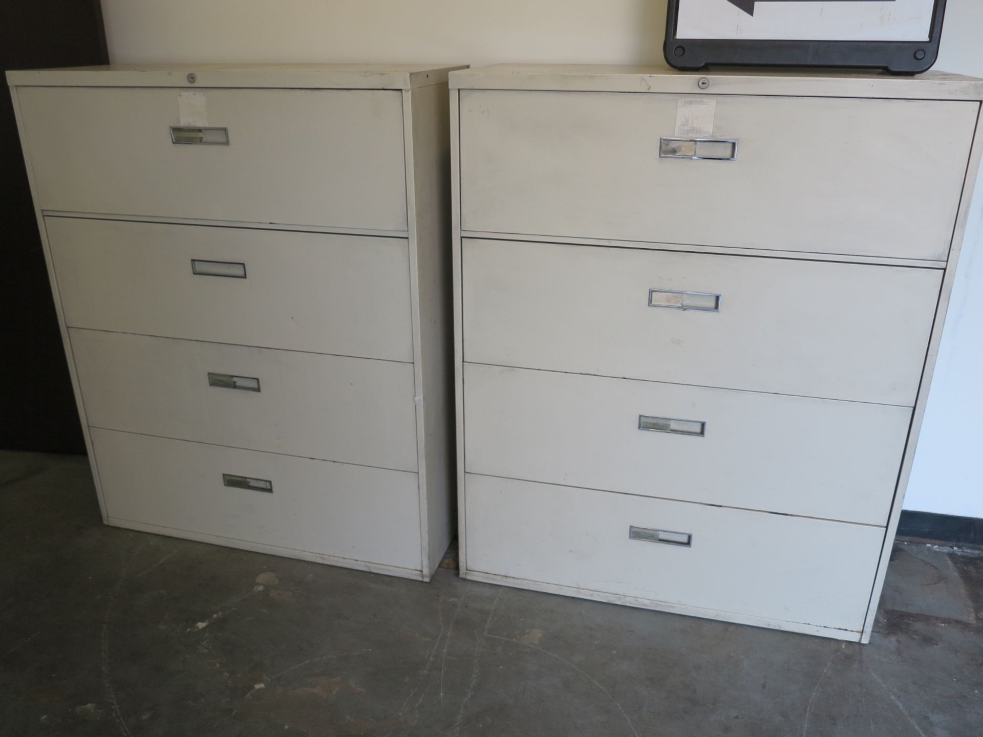 Lot 48 - LOT - CONTENTS OF ROOM, TO INCLUDE: REFRIGERATOR, DESK, ALL FILE AND STORAGE CABINETS AND NORDIC