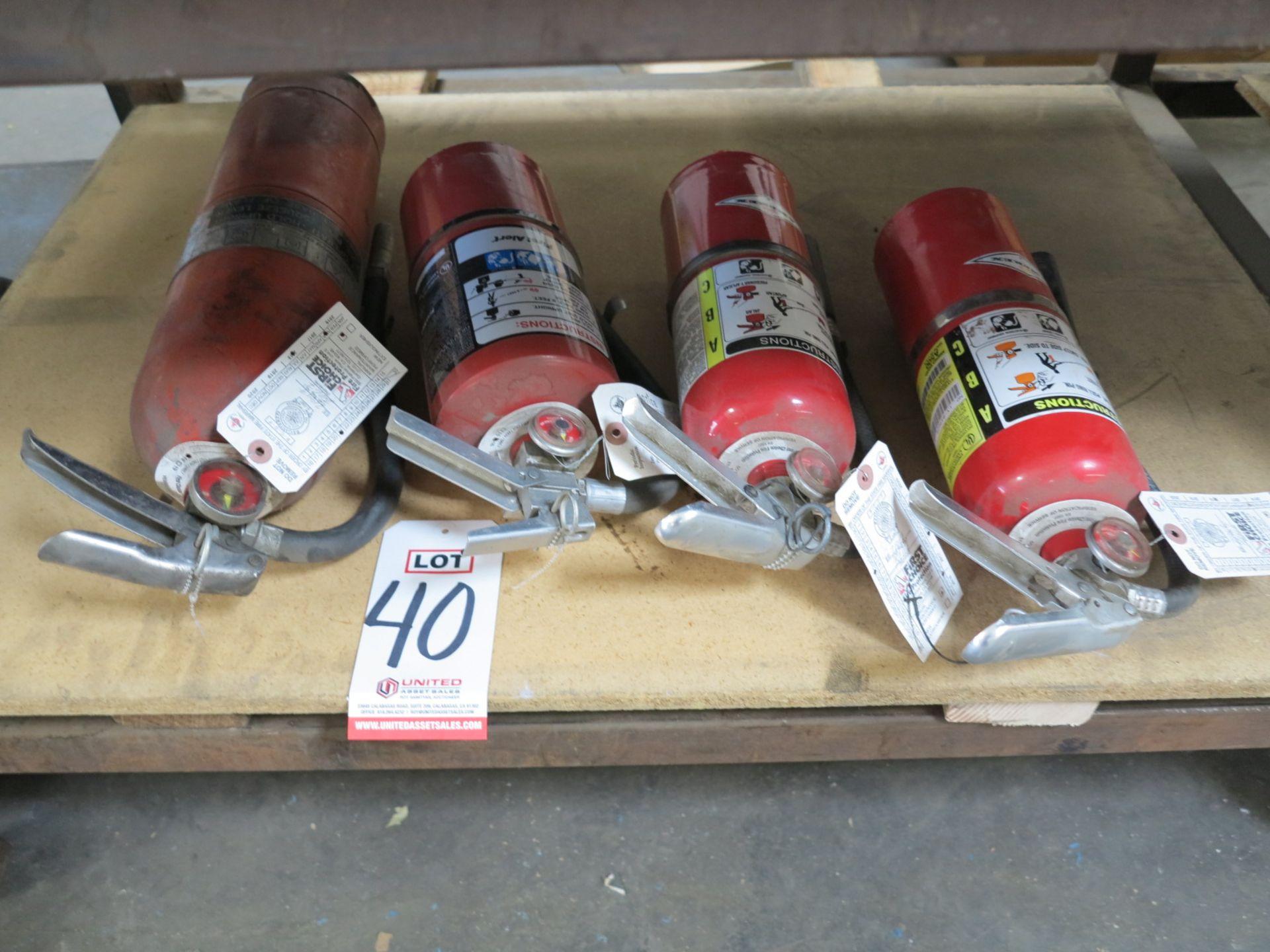 Lot 40 - LOT - (4) FIRE EXTINGUISHERS