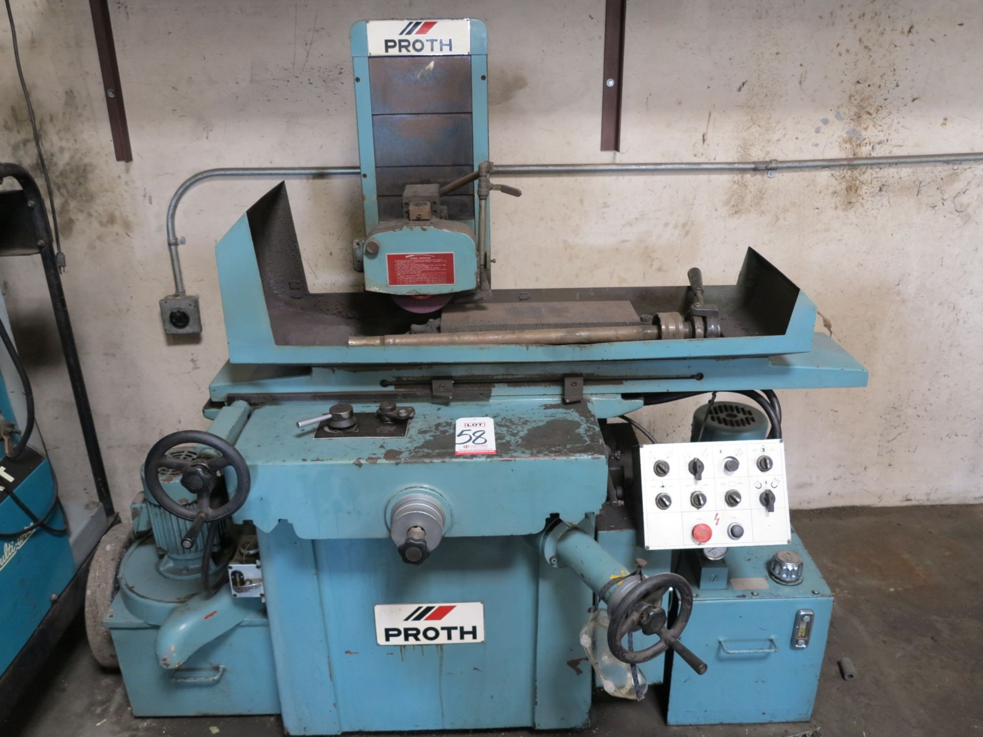 """Lot 58 - 1983 PROTH SURFACE GRINDER, MODEL PSG-2550AH, S/N 30468-2, W/ 6"""" X 18"""" MAGNETIC CHUCK"""