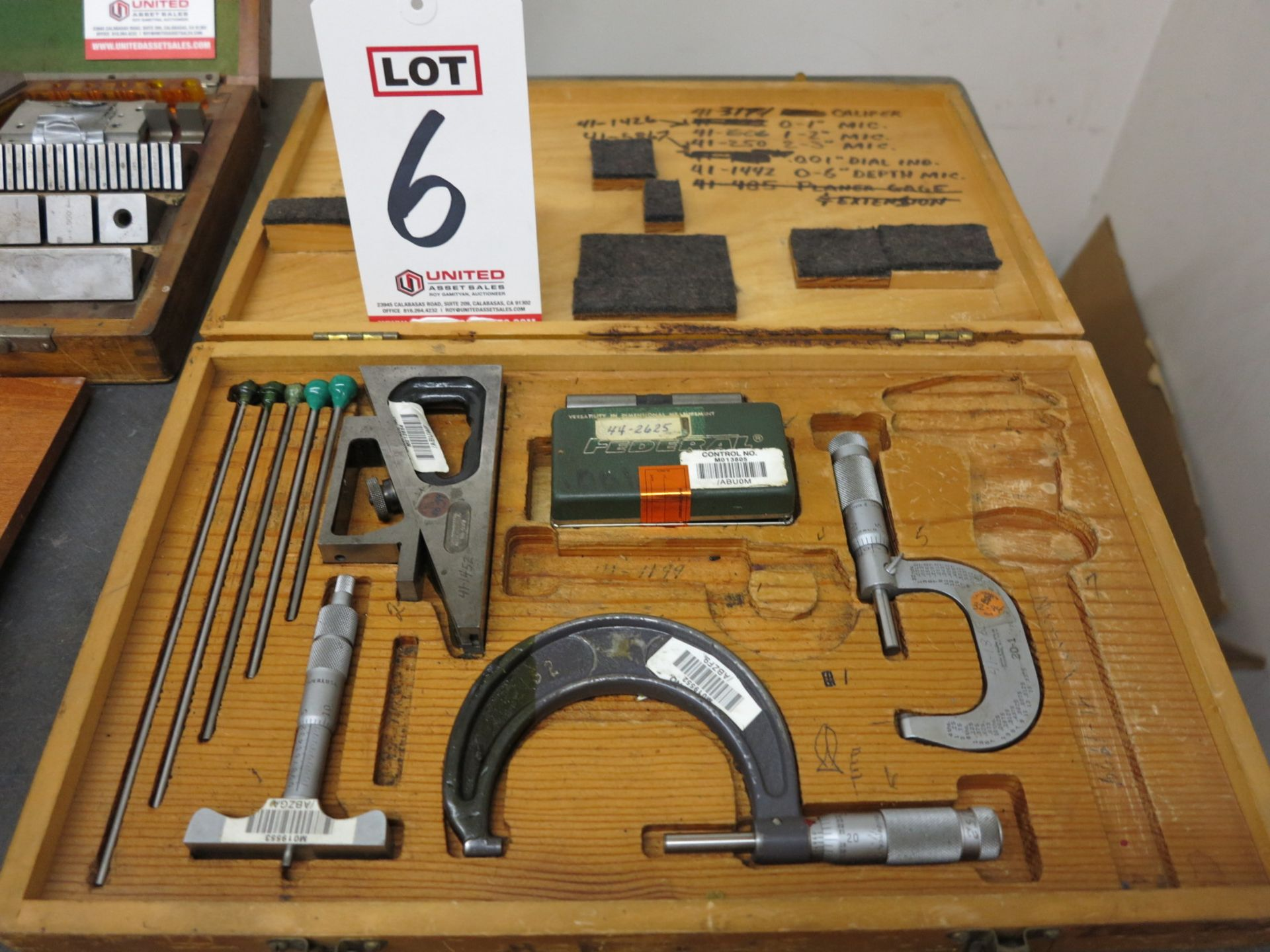 Lot 6 - MISC INSPECTION TOOLS SET