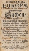 Roth, Eberhard Rudolph: Memorabilia Europæ, oder Denckwürdigste Sachen/ welche ein Räysender in