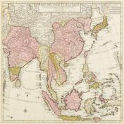 Südostasien. - China. - Carte Des Indes et de la Chine dressée sur plusieurs relations particulières