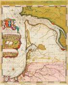 Frankreich. - Bordeaux. - Carte maritime depuis la Rivière de Bourdeaux jusques a St Sebastien al'