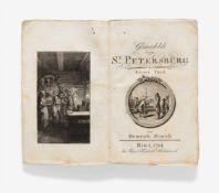 Storch, Heinrich: Gemaehlde von St. Petersburg. 2 Bde. Riga: J. F. Hartknoch 1794. 17,3 x 11 cm. Mit