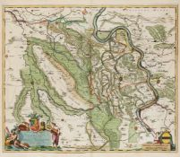 Atlas - Sammelband - Westphälischer Kreis. 53 x 34 cm. Mit 53 gest. u. meist kolorierten Karten (