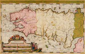 Frankreich/Bretagne. - Carte Nouvelle des Costes De Bretagne depuis St. Malo jusques à l'emboucheure