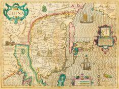 China. - China Tartariae pars, mit dem Nordosten Indiens und dem Golf von Bengalen, Korea (als