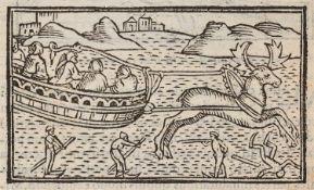 Magnus, Olaus: Historia de gentibus septentrionalibus. Antwerpen: Plantin 1558. 15,3 x 9,4 cm. Mit