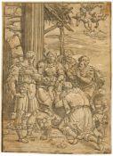 ANDREA ANDREANIMantua 1558/59 - 1629Die Anbetung der Könige. Clair-obscur-Holzschnitt von 3