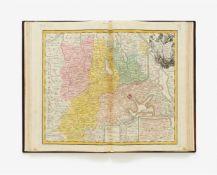 Sammelatlas mit 50 Gesamt- und Gebietskarten aus allen Teilen der Welt. Bei Joh. Bapt. Homann (17)