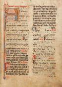 Missale Coloniense. Köln(?), 1420.Lateinische Handschrift auf Pergament. 319 Bll. Ursprüngliche
