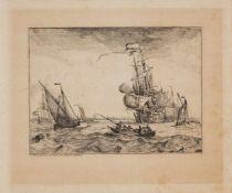 LUDOLF BACKHUIZENEmden 1631 - 1708 Amsterdam D'Y Stroom en Zeegezichten, Seestücke mit Ansichten von