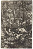 ALBRECHT ALTDORFER Regensburg um 1480 - 1538 Pyramus und Thisbe. Kupferstich auf Bütten.