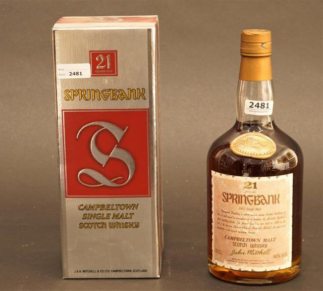 Lot 2481 - Springbank Campbeltown, Single Malt Scotch Whisky, 21 years
