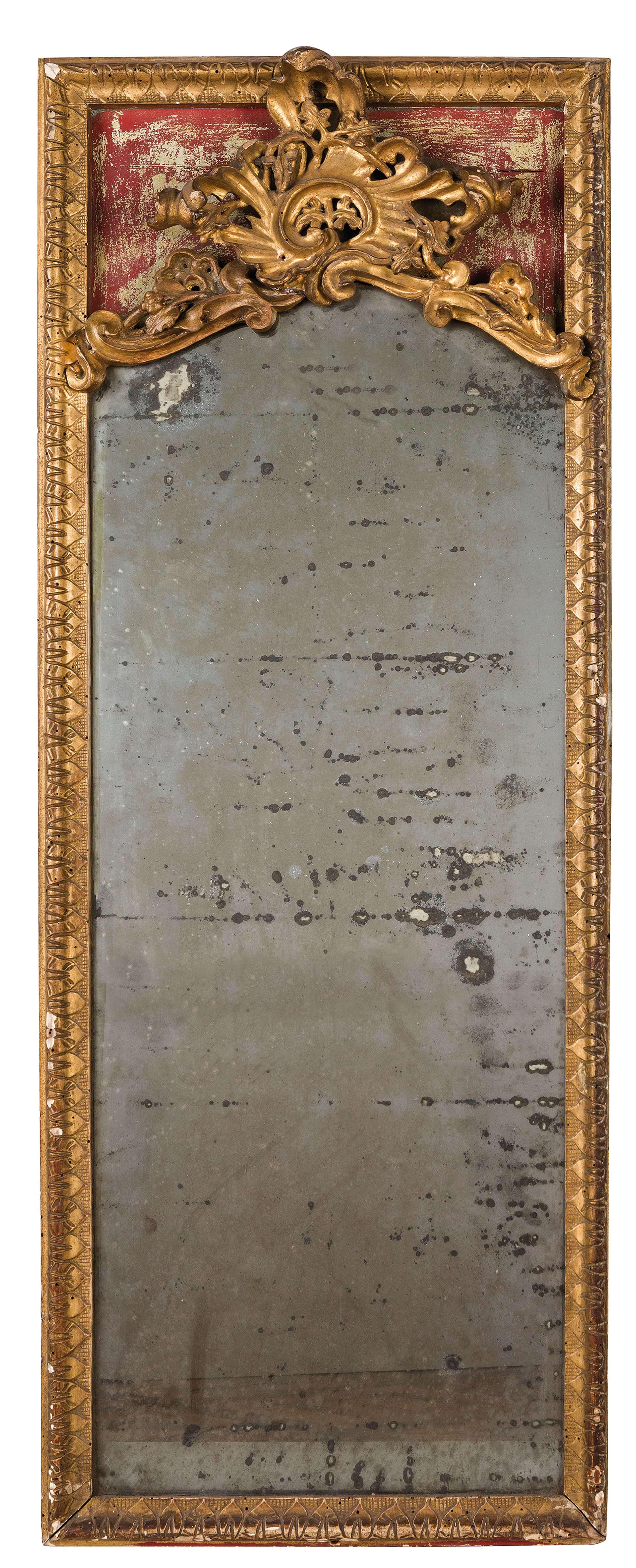 Lot 161 - COPPIA DI SPECCHIERE IN LEGNO LACCATO E DORATO, XVIII-XIX SECOLO