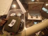 Lot 49 - Box of wristwatches watch parts and guitar cufflinks