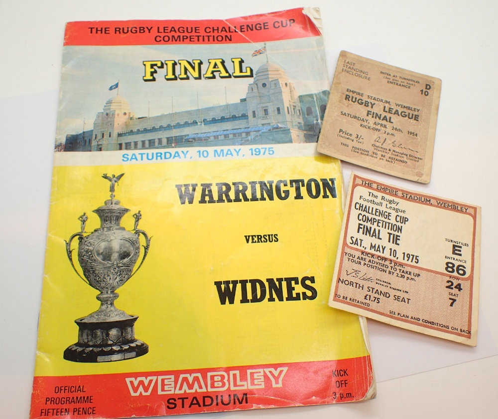 Lot 1485 - 10 May 1975 Rugby League Challenge Cup F