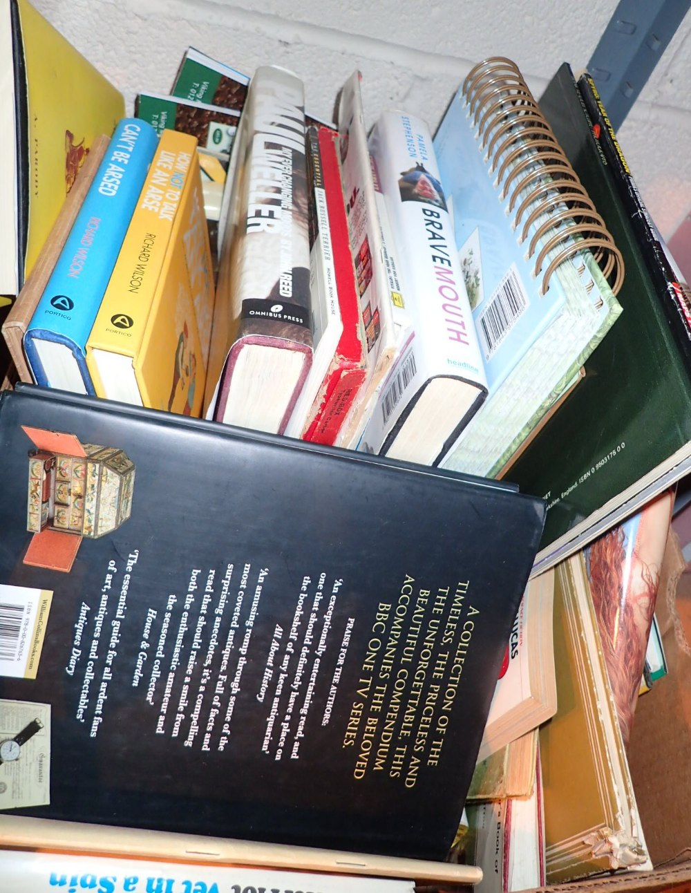 Lot 298 - Box of mixed books including antique rel