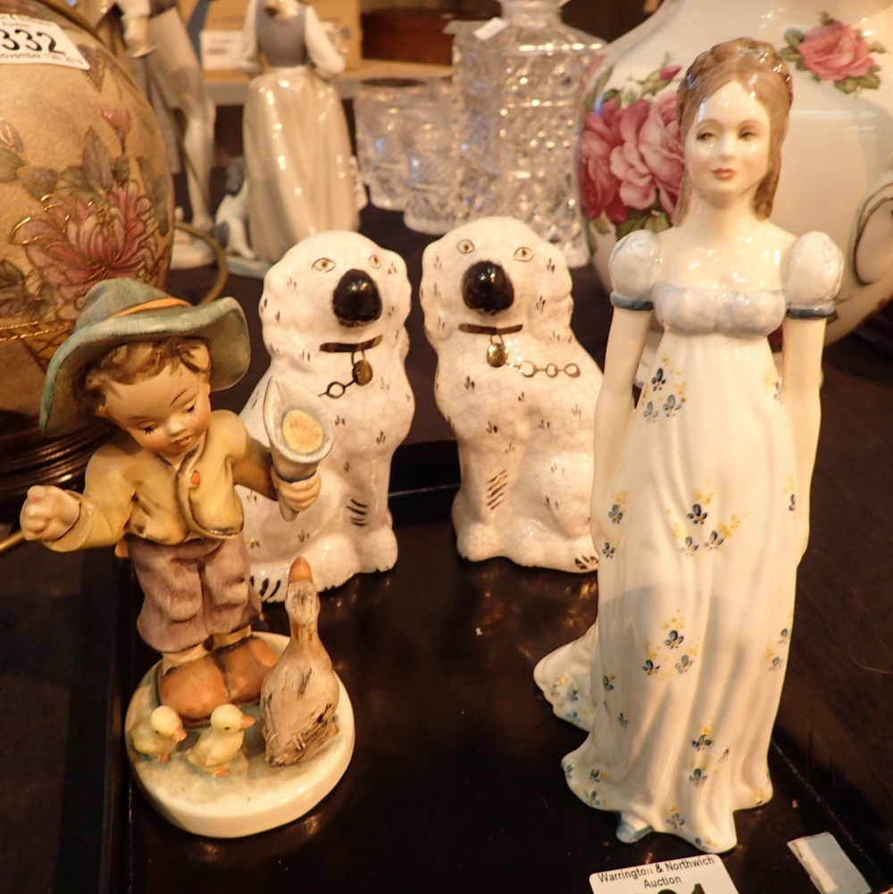 Lot 331 - German figurine with a pair of miniature