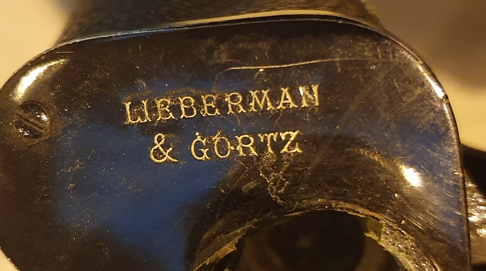 Lot 1890 - Leather cased pair of 21 x 47 Lieberman