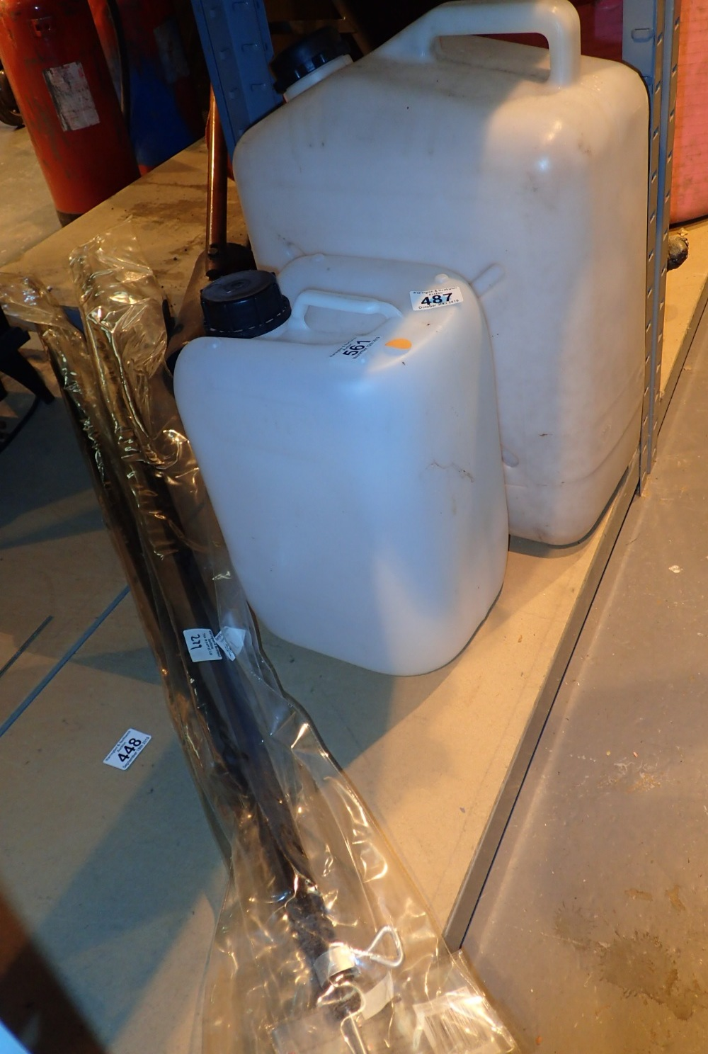 Lot 561 - Two water storage containers and two adj