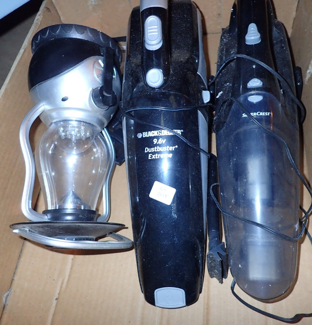 Lot 280 - Two Black and Decker Dustbusters and a m
