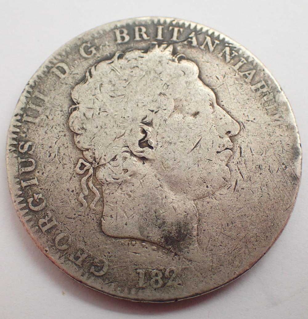 Lot 1426 - George III 1822 crown ( very rubbed )