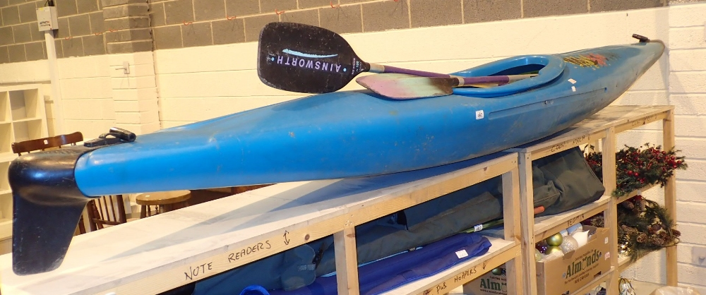 Lot 463 - Discovery 380 canoe with two paddles