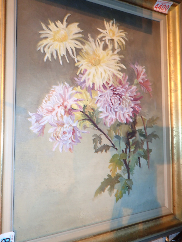 Lot 517 - Framed oil on canvas of still life