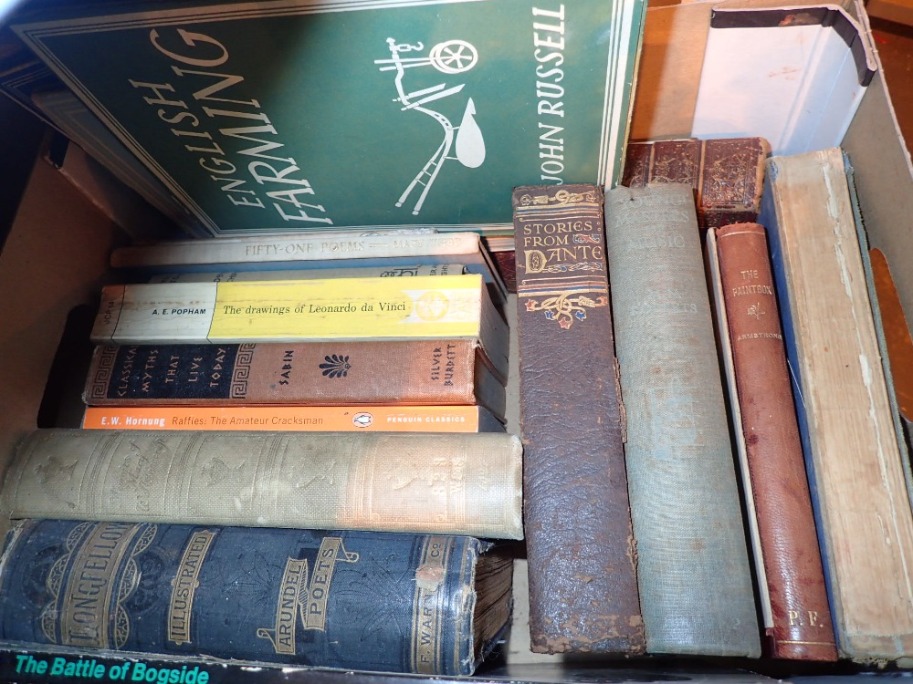 Lot 303 - Box of mixed vintage books