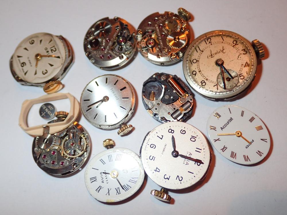 Lot 122 - Ten mixed ladies wristwatch movements