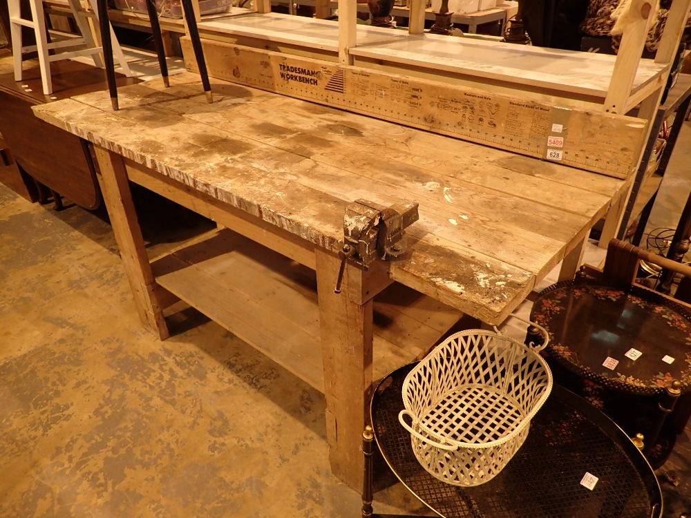 Lot 628 - Tradesman workbench complete with bench
