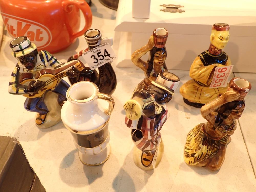 Lot 354 - Collection of vintage ceramic figural mi