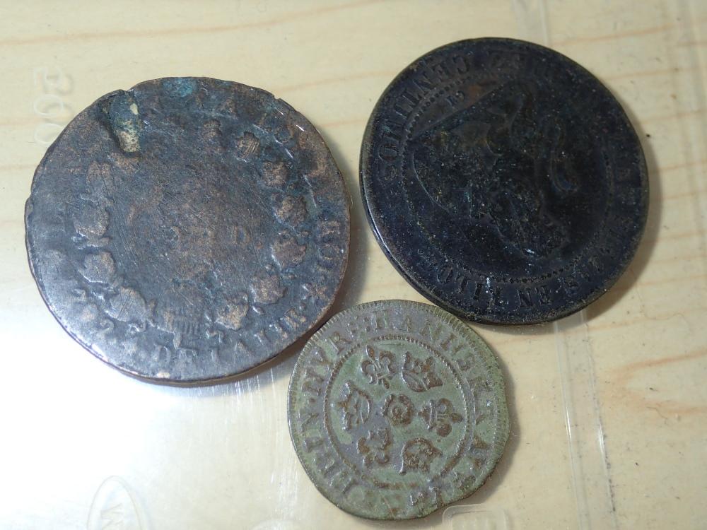 Lot 145 - Three mixed world coins