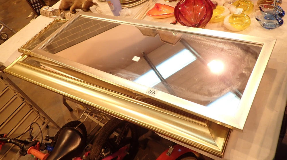 Lot 365 - Two gilt and one platinum edge rectangul