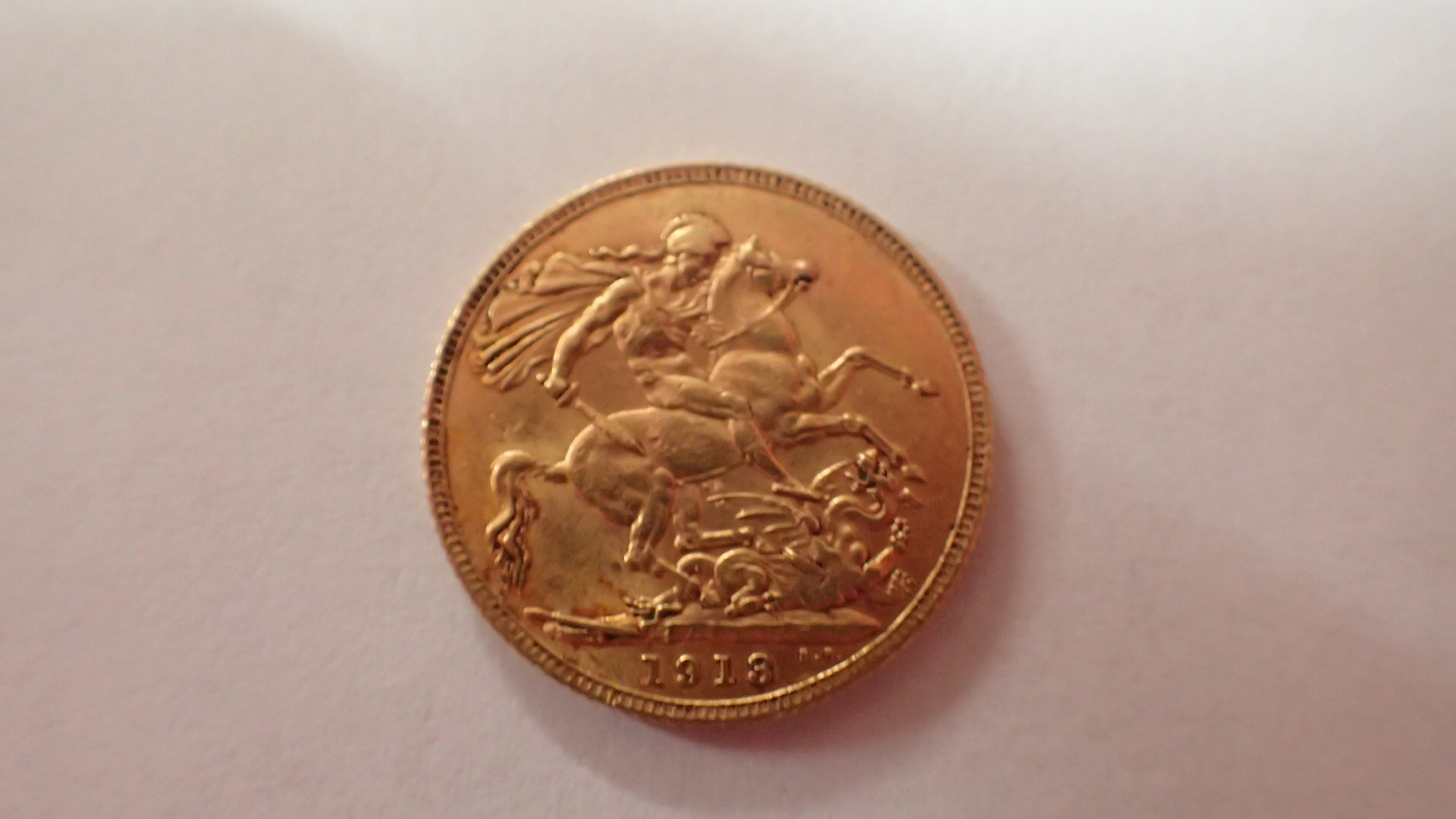 Lot 1241 - 1913 full Sovereign George and Dragon verso