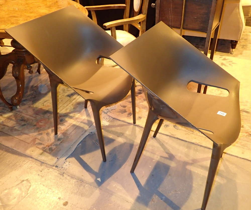 Lot 750 - Two Karter stackable chairs designed by Philip Starck with Eugene Quitllet in 2009
