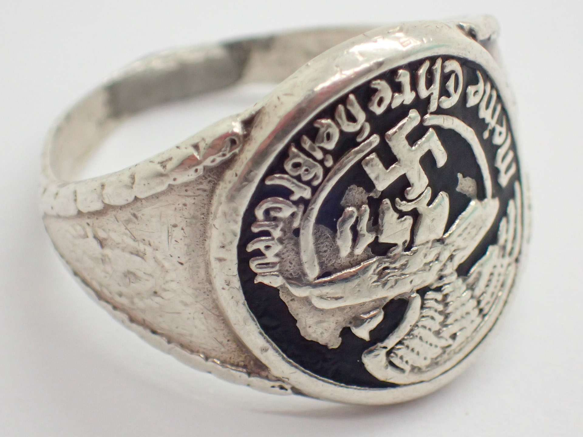 Lot 68 - WWII German SS 800 silver ring