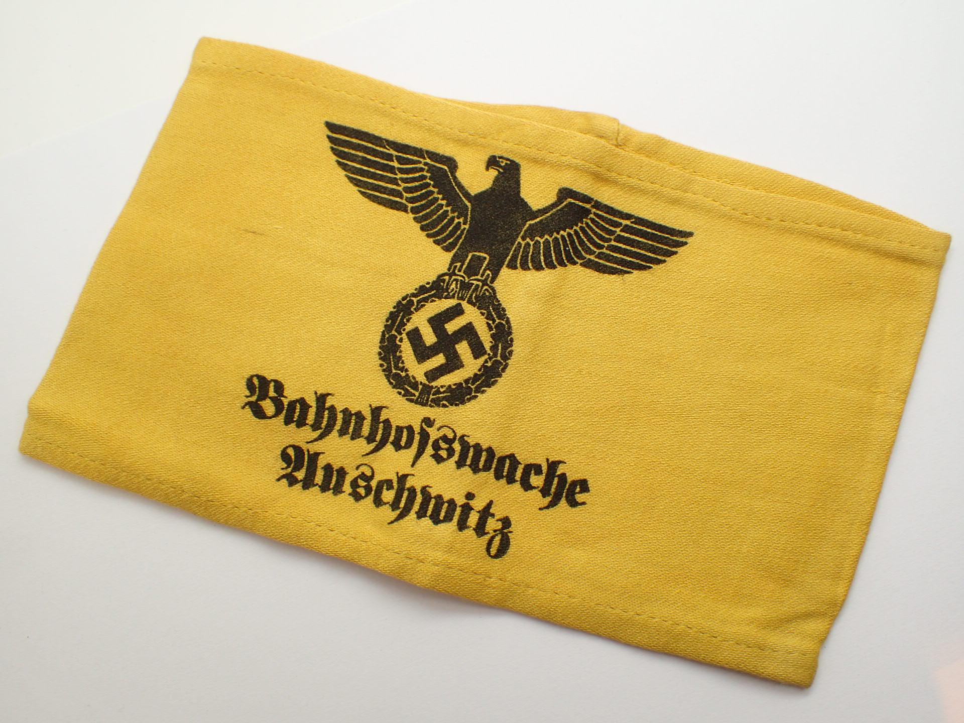 Lot 109 - WWII German Bahnhofswache Auschwitz armb