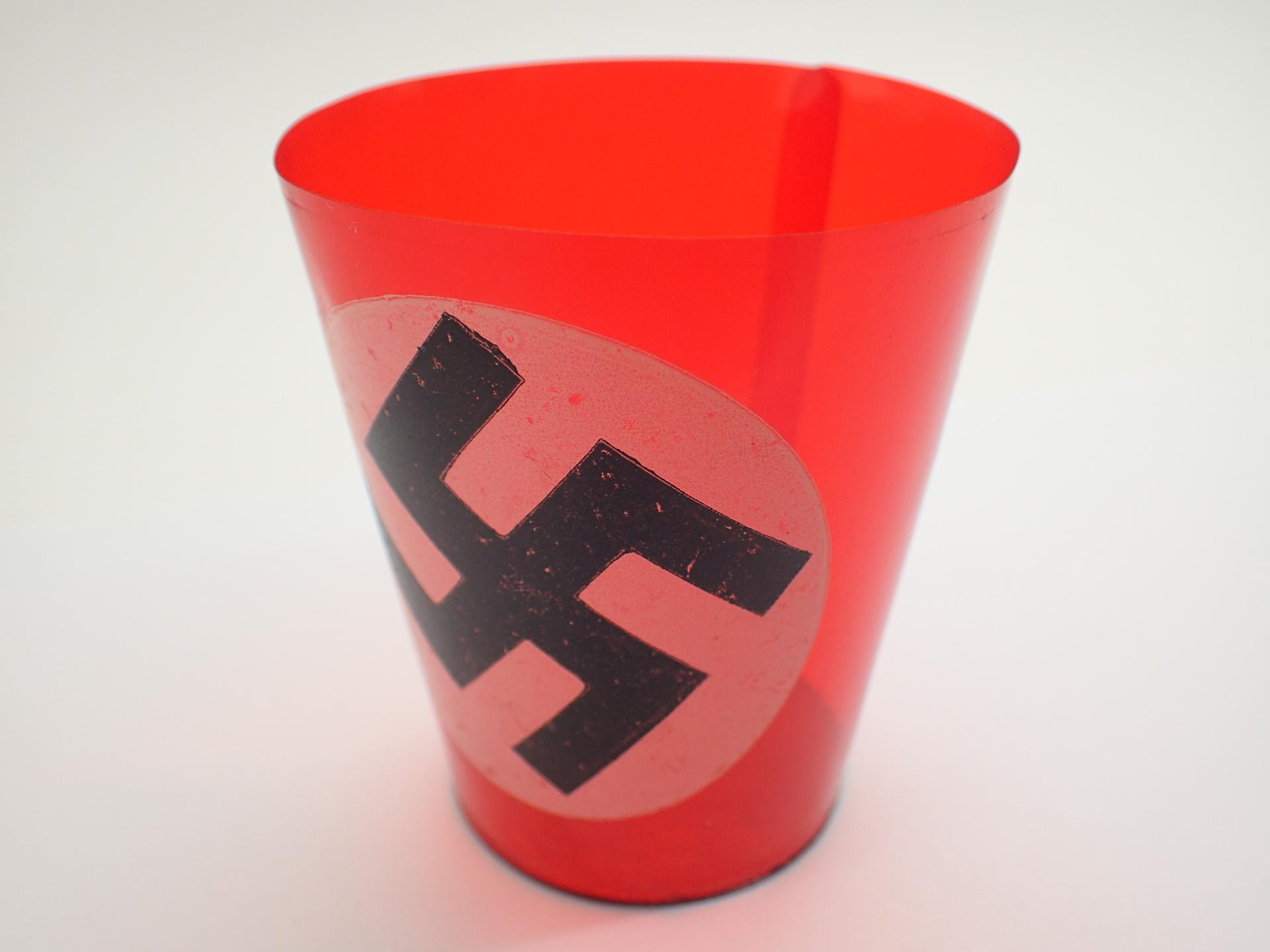 Lot 104 - WWII Swastika candle holder