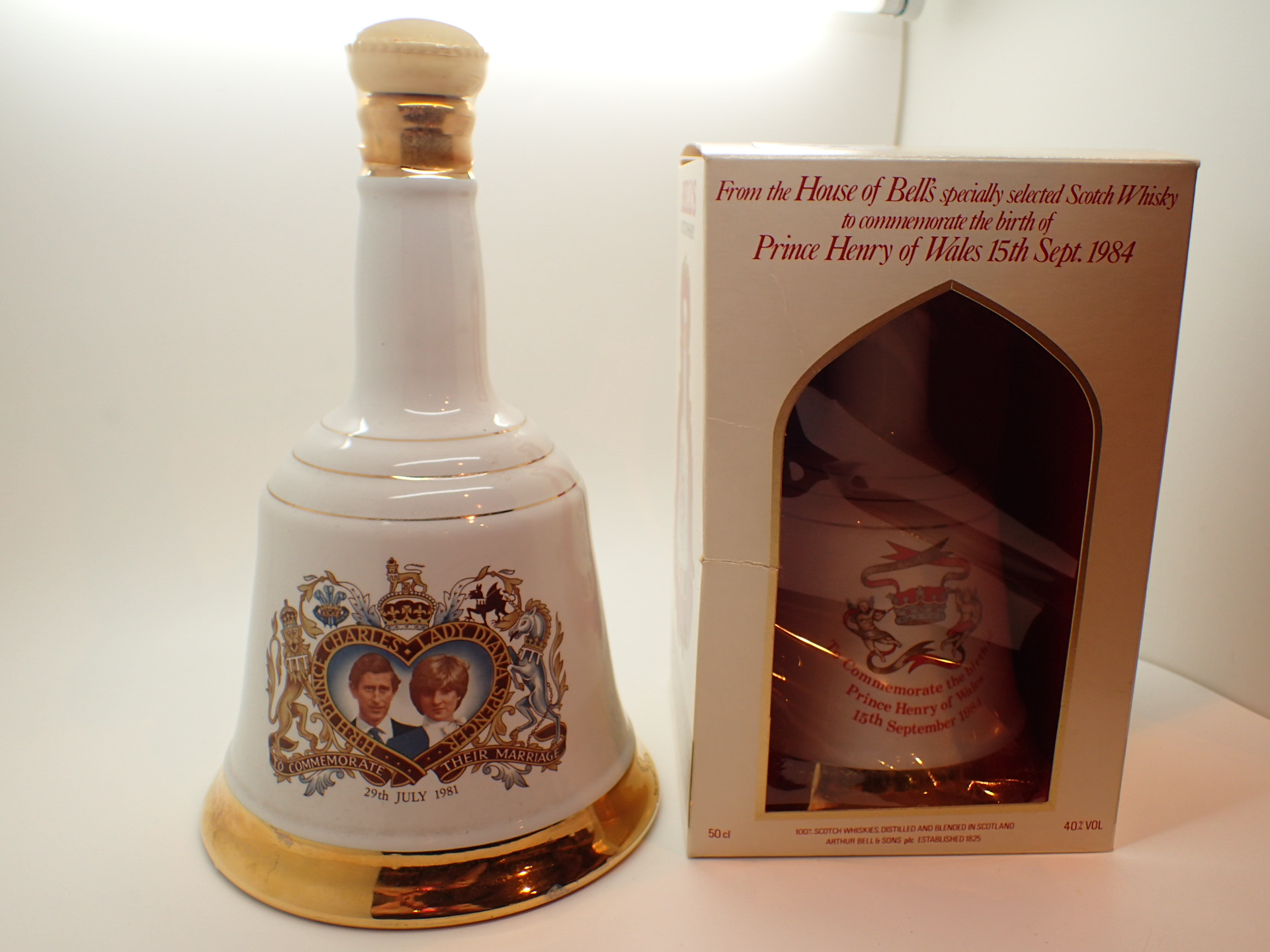 Lot 516 - Two Bells whisky flasks Prince Henry of