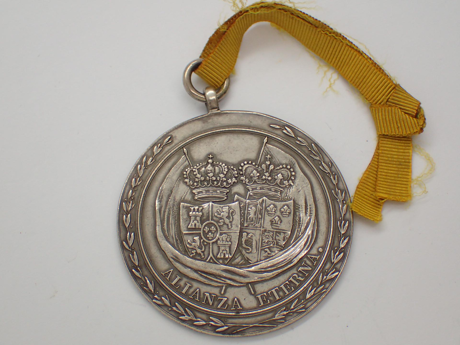 Lot 82 - Bagur and Palamos medal 1811 Spain award